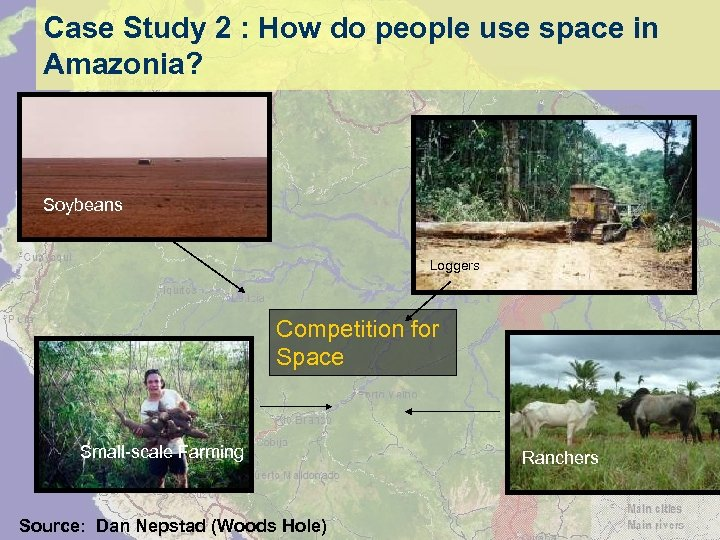 Case Study 2 : How do people use space in Amazonia? Soybeans Loggers Competition
