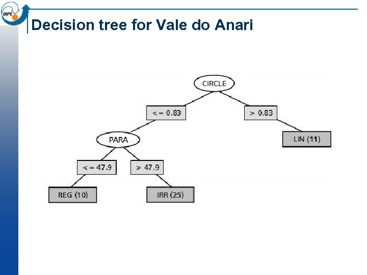 Decision tree for Vale do Anari