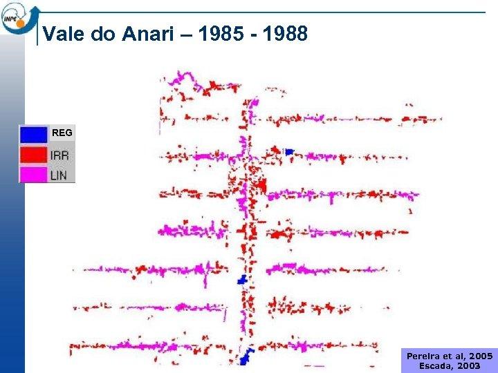 Vale do Anari – 1985 - 1988 REG Pereira et al, 2005 Escada, 2003