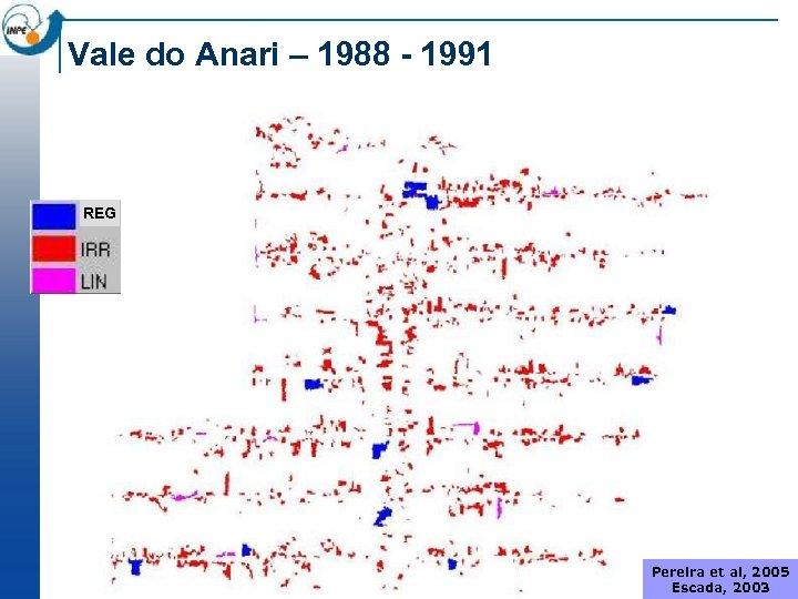 Vale do Anari – 1988 - 1991 REG Pereira et al, 2005 Escada, 2003