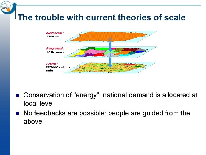 "The trouble with current theories of scale n n Conservation of ""energy"": national demand"