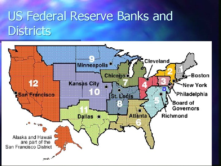 US Federal Reserve Banks and Districts