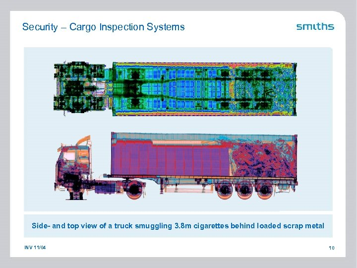 Security – Cargo Inspection Systems Side- and top view of a truck smuggling 3.