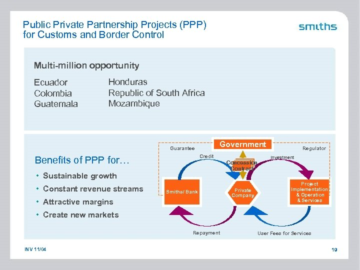 Public Private Partnership Projects (PPP) for Customs and Border Control Multi-million opportunity Ecuador Colombia