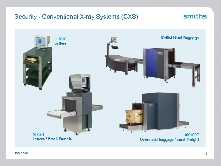 Security - Conventional X-ray Systems (CXS) 3010 Letters 5030 si Letters / Small Parcels