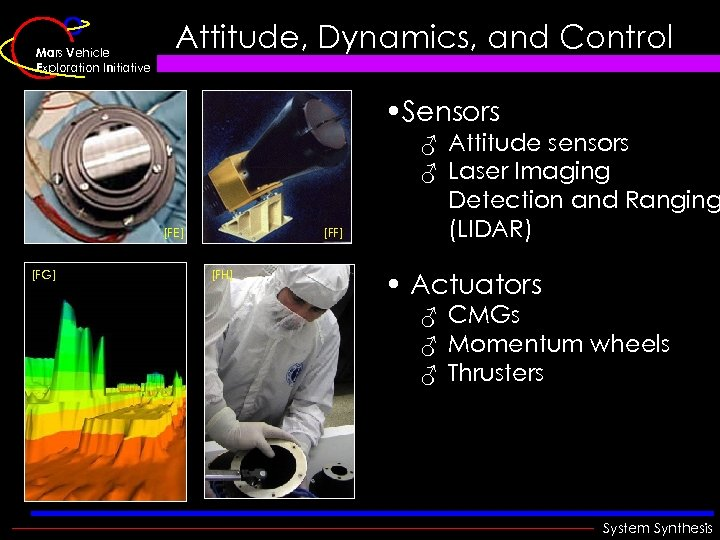 Mars Vehicle Exploration Initiative Attitude, Dynamics, and Control • Sensors [FE] [FG] [FF] [FH]