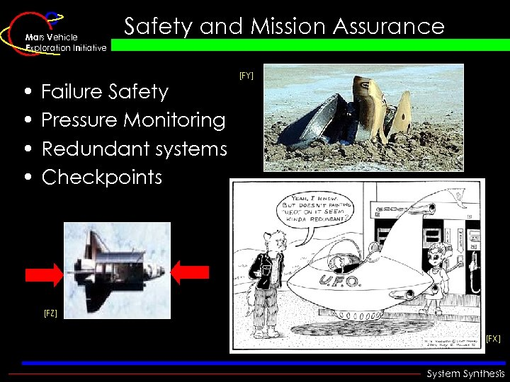 Mars Vehicle Exploration Initiative • • Safety and Mission Assurance Failure Safety Pressure Monitoring