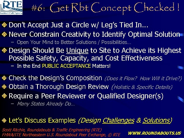 #6: Get Rbt Concept Checked ! Don't Accept Just a Circle w/ Leg's Tied