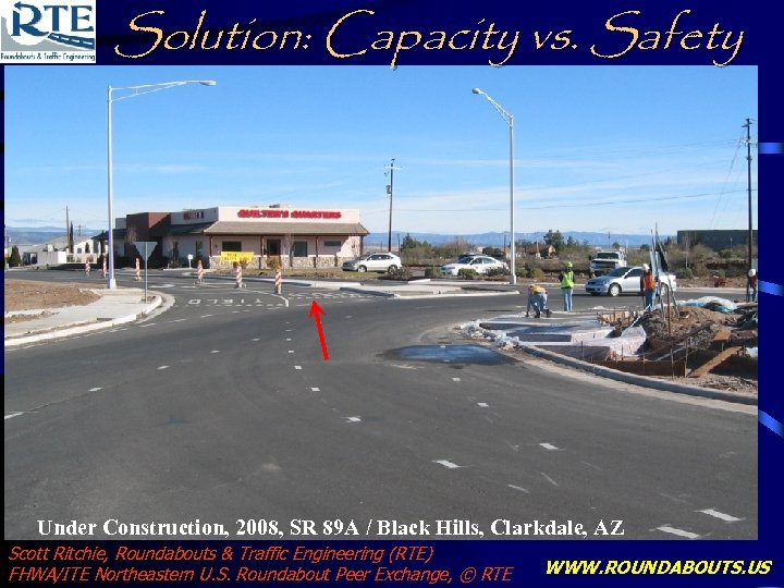 Solution: Capacity vs. Safety Under Construction, 2008, SR 89 A / Black Hills, Clarkdale,