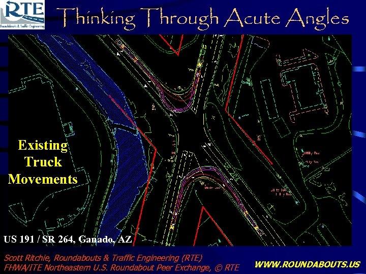 Thinking Through Acute Angles Existing Truck Movements US 191 / SR 264, Ganado, AZ