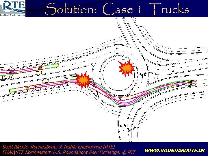 Solution: Case 1 Trucks Scott Ritchie, Roundabouts & Traffic Engineering (RTE) FHWA/ITE Northeastern U.