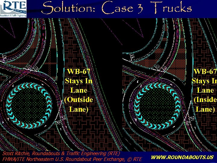 Solution: Case 3 Trucks WB-67 Stays In Lane (Outside Lane) Scott Ritchie, Roundabouts &