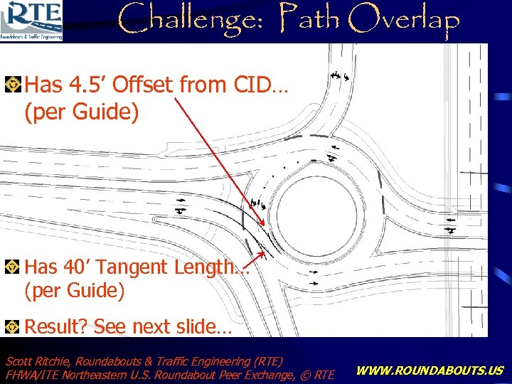 Challenge: Path Overlap Has 4. 5' Offset from CID… (per Guide) Has 40' Tangent