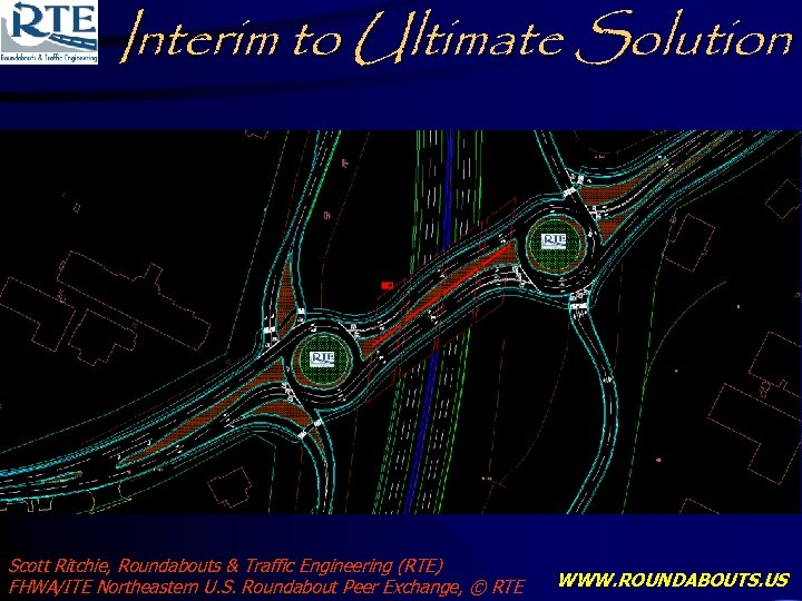 Interim to Ultimate Solution Scott Ritchie, Roundabouts & Traffic Engineering (RTE) FHWA/ITE Northeastern U.