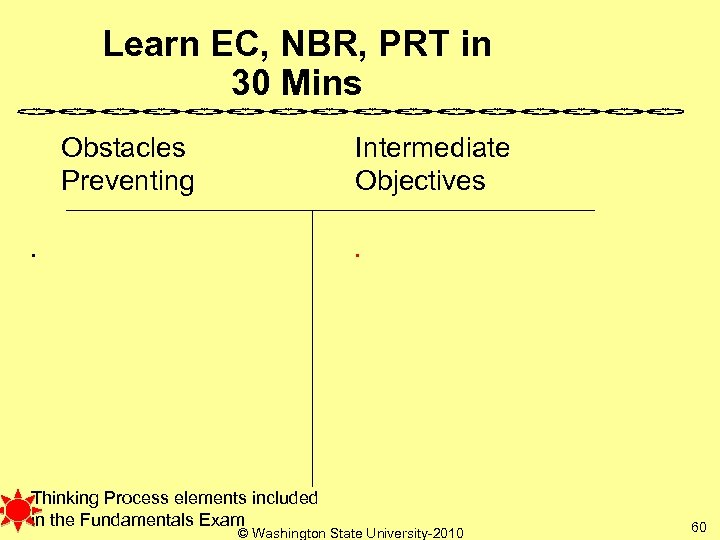 Learn EC, NBR, PRT in 30 Mins Obstacles Preventing Intermediate Objectives . . Thinking