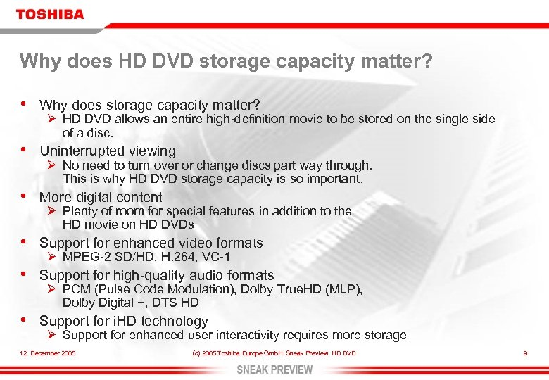 Why does HD DVD storage capacity matter? • Why does storage capacity matter? •