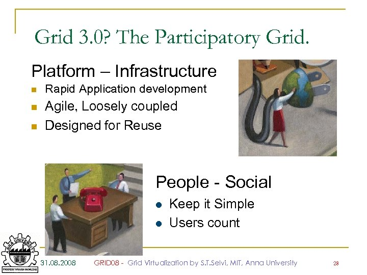 Grid 3. 0? The Participatory Grid. Platform – Infrastructure n n n Rapid Application