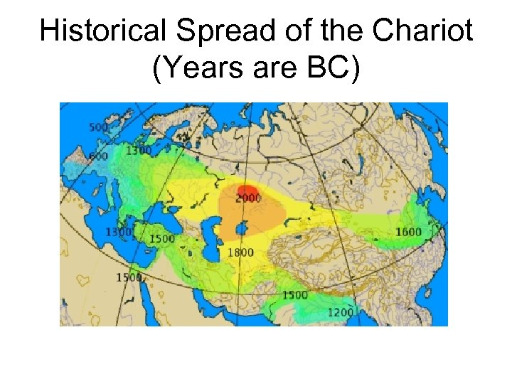 Historical Spread of the Chariot (Years are BC)
