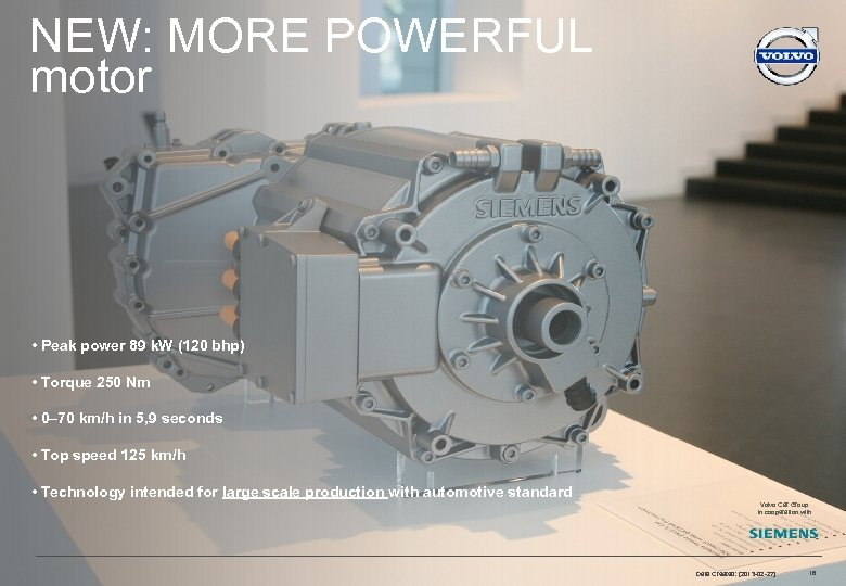 NEW: MORE POWERFUL motor ELECTRIFICATION STRATEGY • Peak power 89 k. W (120 bhp)