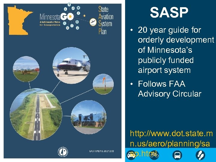 SASP • 20 year guide for orderly development of Minnesota's publicly funded airport system