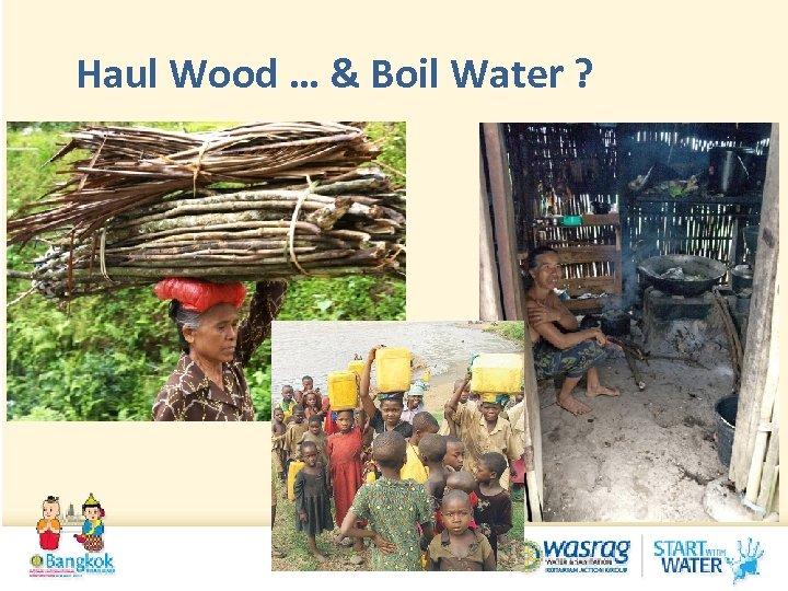Haul Wood … & Boil Water ?
