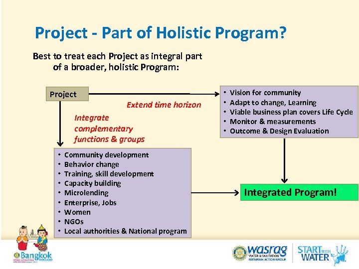 Project - Part of Holistic Program? Best to treat each Project as integral part