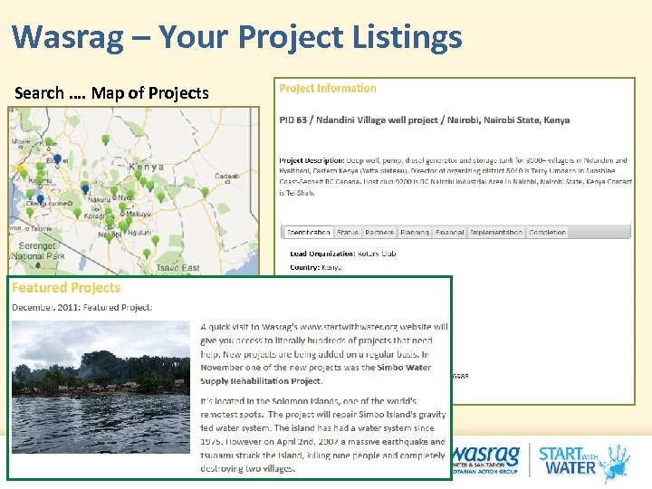 Wasrag – Your Project Listings Search …. Map of Projects