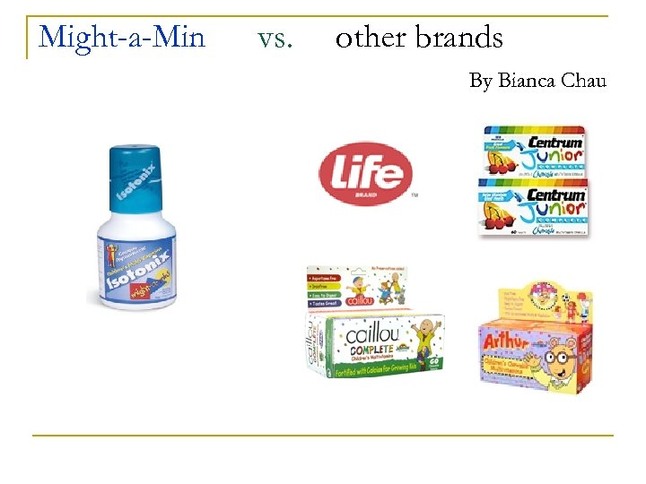 Might-a-Min vs. other brands By Bianca Chau