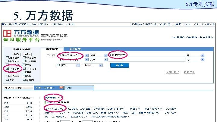 5. 1专利文献 5. 万方数据