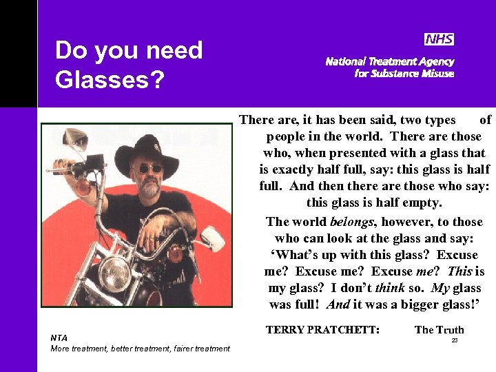 Do you need Glasses? There are, it has been said, two types of people