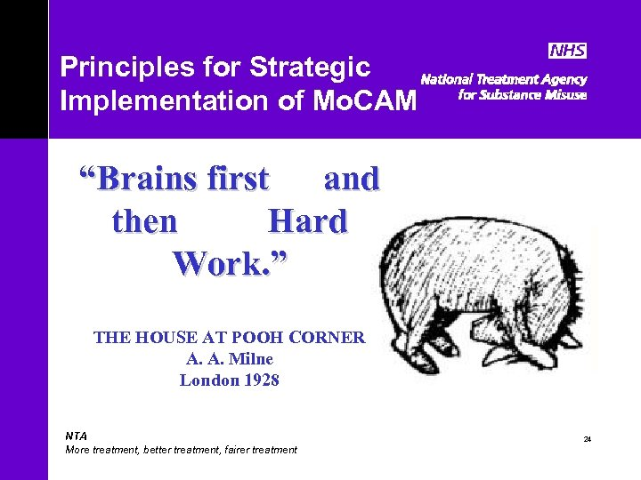 """Principles for Strategic Implementation of Mo. CAM """"Brains first and then Hard Work. """""""