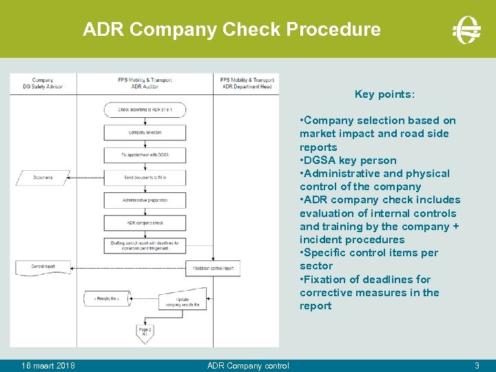 ADR Company Check Procedure Key points: • Company selection based on market impact and
