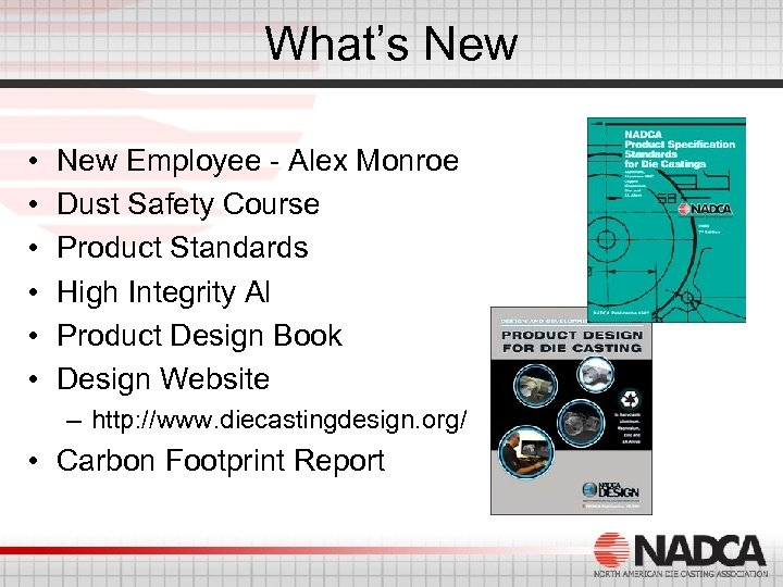 What's New • • • New Employee - Alex Monroe Dust Safety Course Product