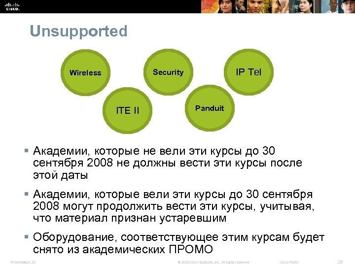 Unsupported IP Tel Security Wireless ITE II Panduit § Академии, которые не вели эти