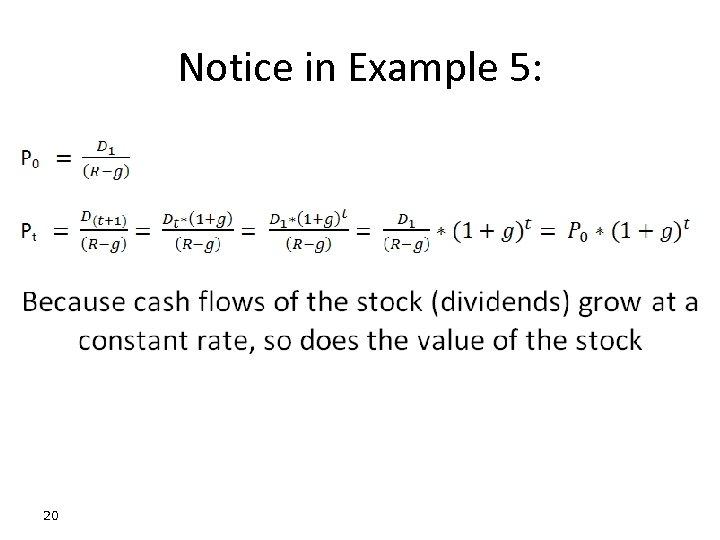 Notice in Example 5: 20