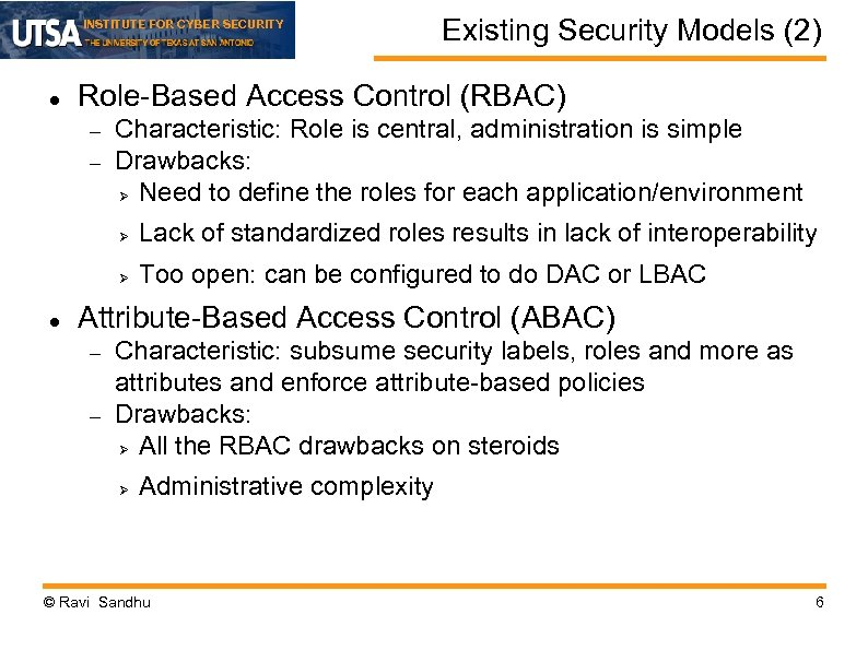 INSTITUTE FOR CYBER SECURITY Application-Centric Security