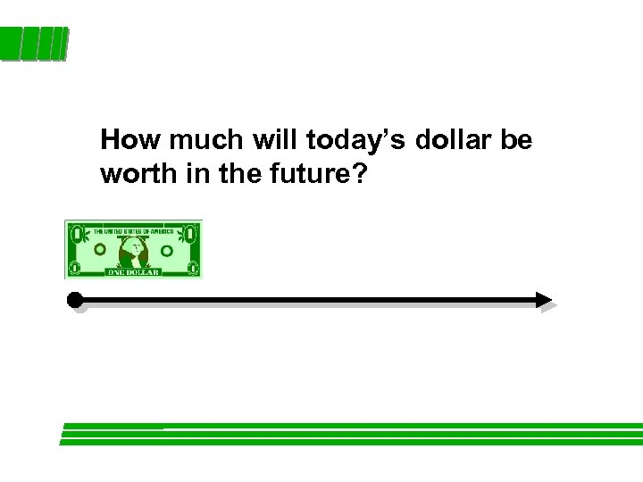 How much will today's dollar be worth in the future?