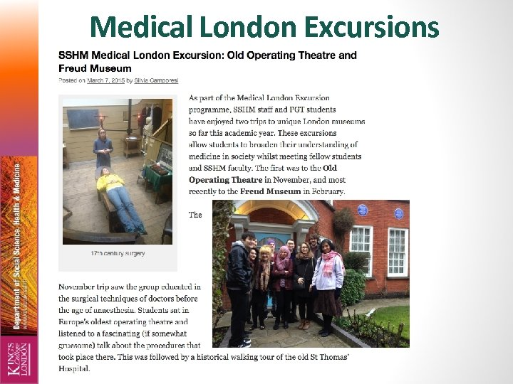 Medical London Excursions