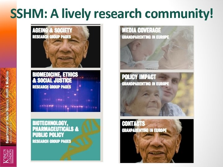 SSHM: A lively research community!