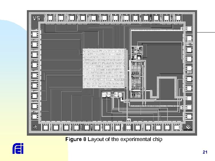 Figure 8 Layout of the experimental chip 21