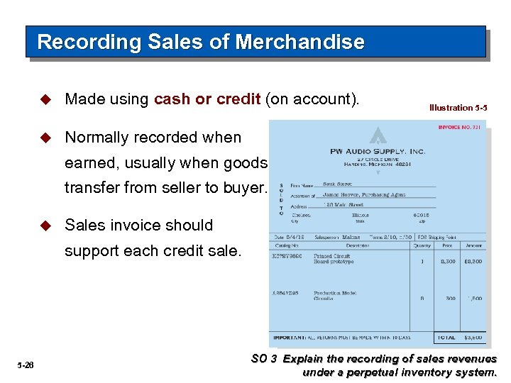 Recording Sales of Merchandise u Made using cash or credit (on account). u Normally