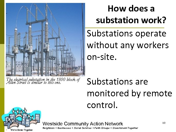 How does a substation work? Substations operate without any workers on-site. . The electrical