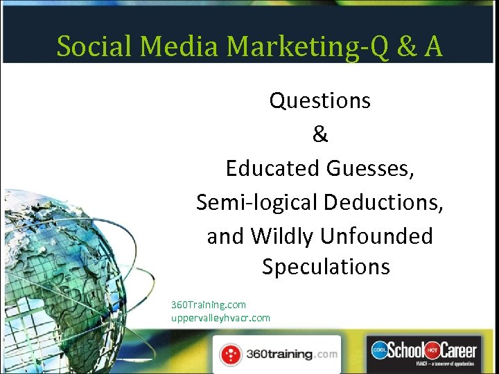Social Media Marketing-Q & A Questions & Educated Guesses, Semi-logical Deductions, and Wildly Unfounded