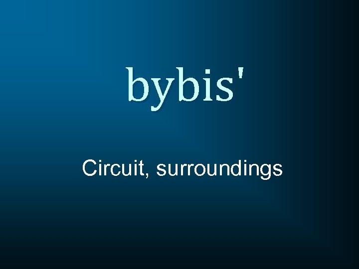 bybis' Circuit, surroundings
