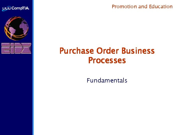 Promotion and Education Purchase Order Business Processes Fundamentals
