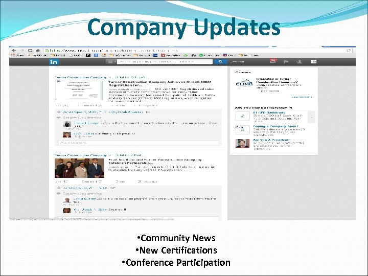 Company Updates • Community News • New Certifications • Conference Participation