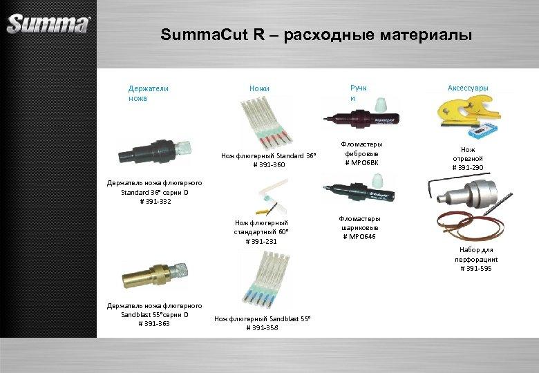 Summa. Cut R – расходные материалы Держатели ножа Ножи Нож флюгерный Standard 36° #