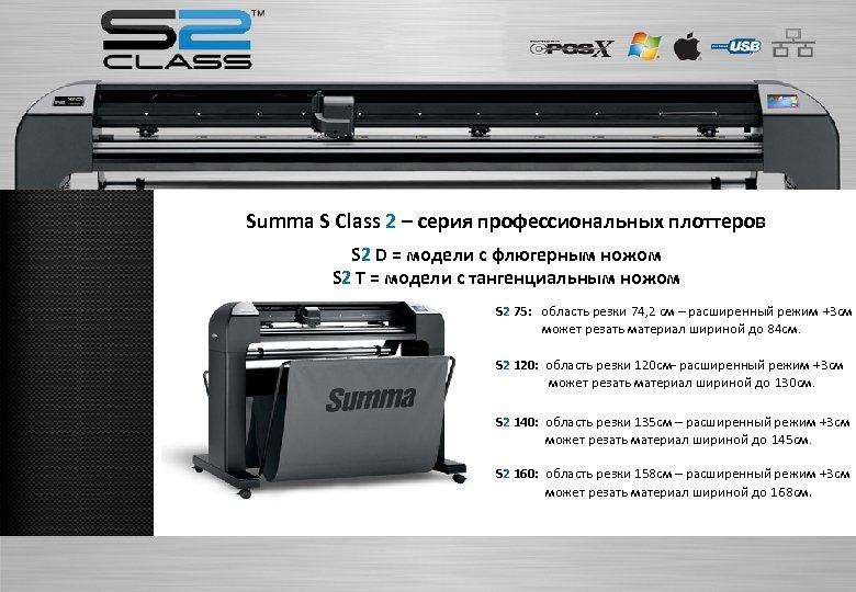 Summa S Class 2 – серия профессиональных плоттеров S 2 D = модели с