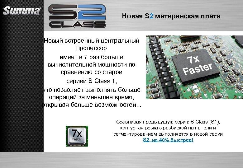 Новая S 2 материнская плата Новый встроенный центральный процессор имеет в 7 раз больше