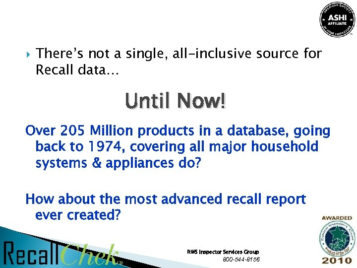 There's not a single, all-inclusive source for Recall data… Until Now! Over 205